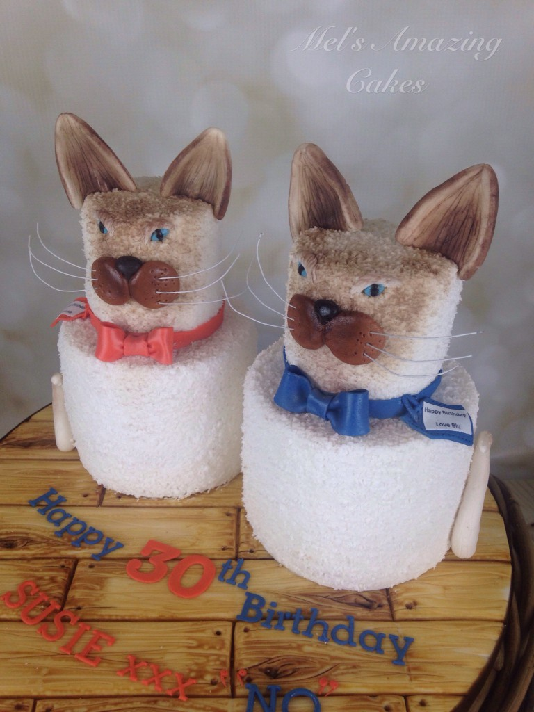 Siamese Cat Birthday Cake