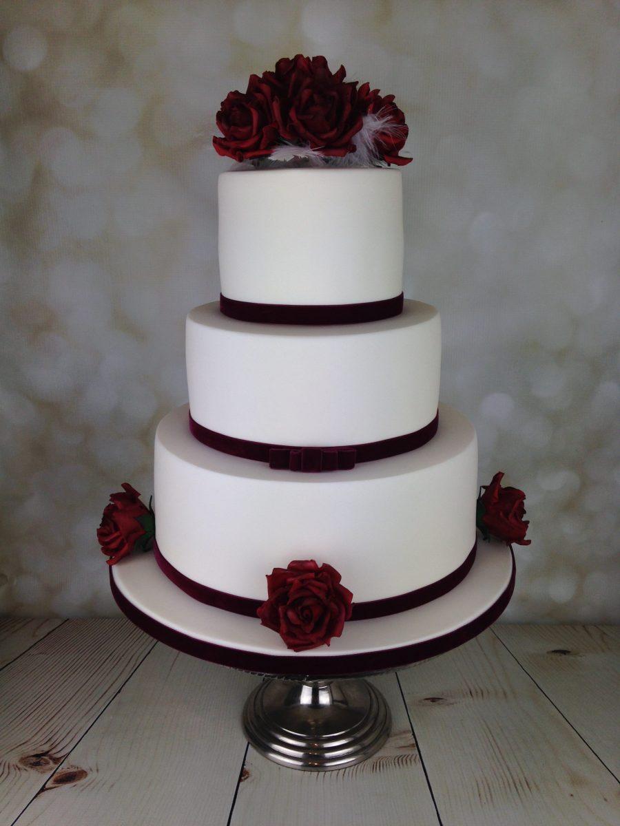 Red Velvet Roses Wedding Cake Mel S Amazing Cakes