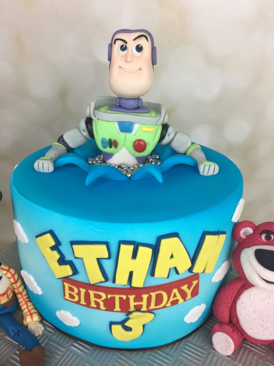 Cake Details Three Characters From Toy Story
