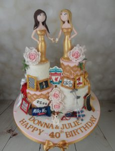 Twins Joint 40th Birthday Cake Mel S Amazing Cakes