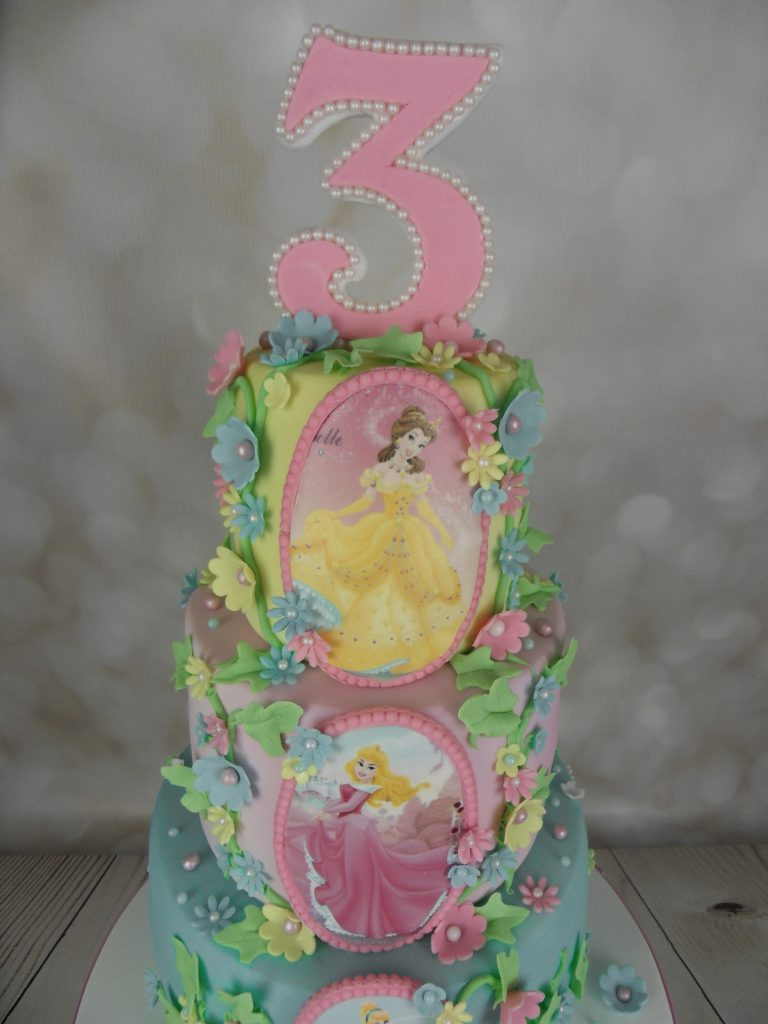 Disney Princess 3rd Birthday Cake