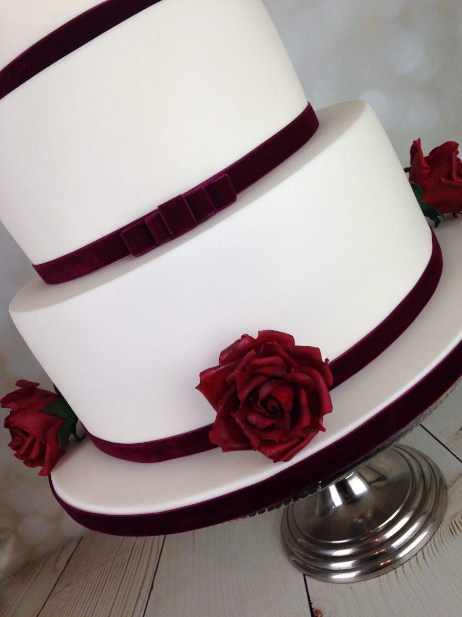 Red Velvet roses wedding cake - Mel\'s Amazing Cakes
