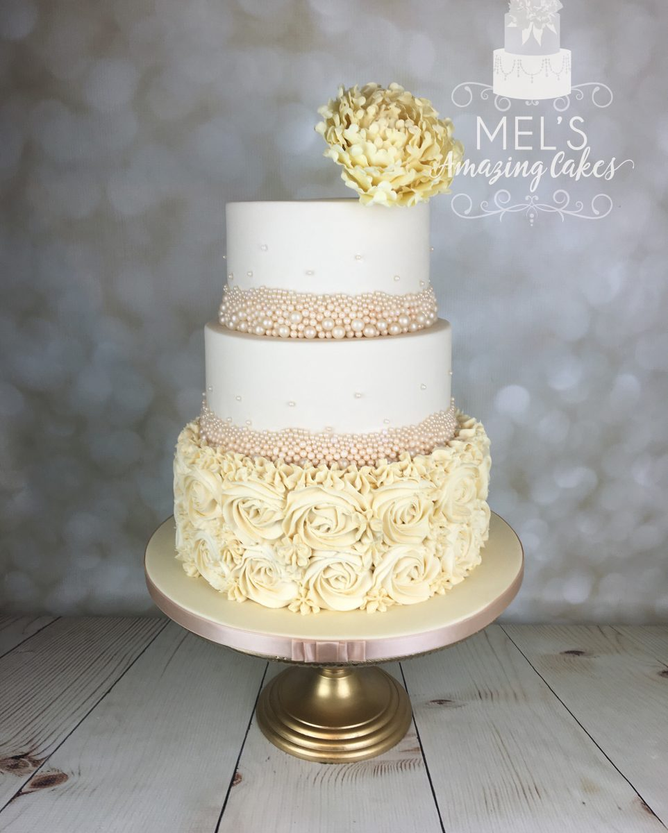 piped wedding cakes piped buttercream rosette wedding cake mel s amazing cakes 18605