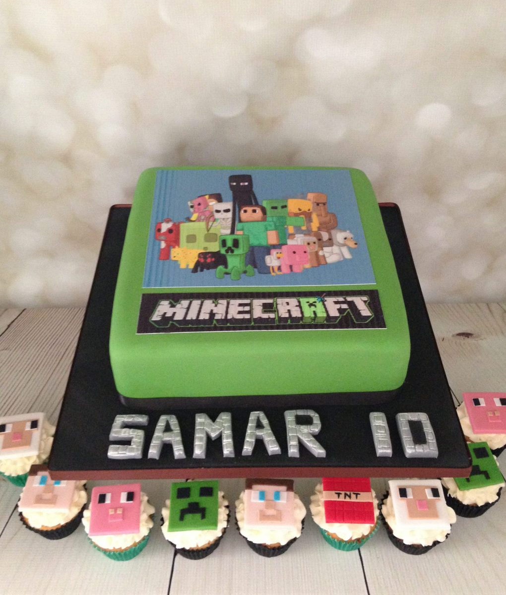 Minecraft Cake and Cupcakes - Mel's Amazing Cakes