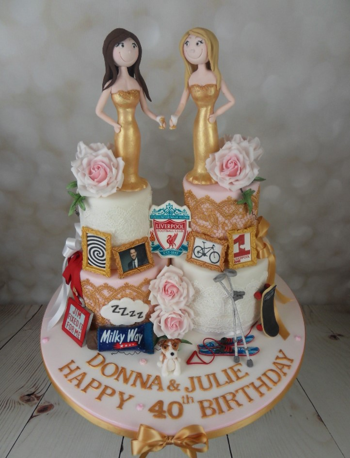 Twins Joint 40th Birthday Cake Mels Amazing Cakes