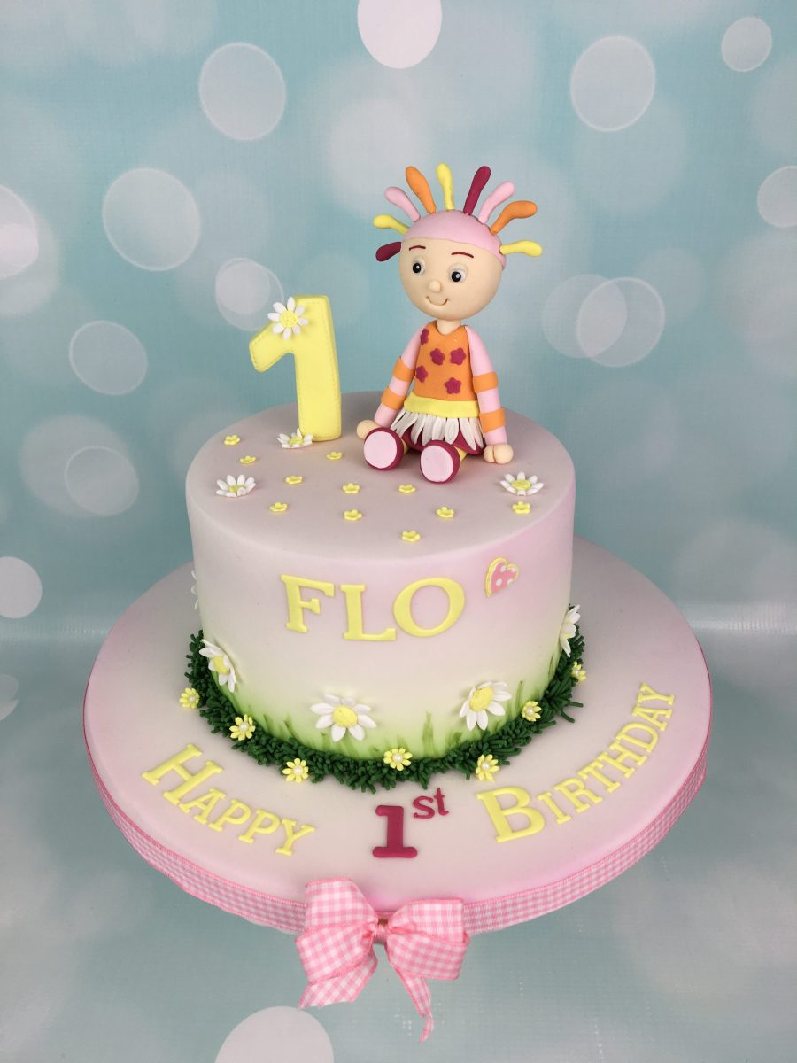 Upsy daisy 1st birthday cake mel 39 s amazing cakes for In the night garden cakes designs