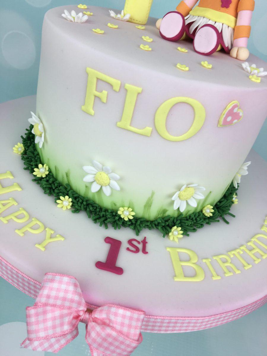 Upsy Daisy 1st Birthday Cake - Mel\'s Amazing Cakes