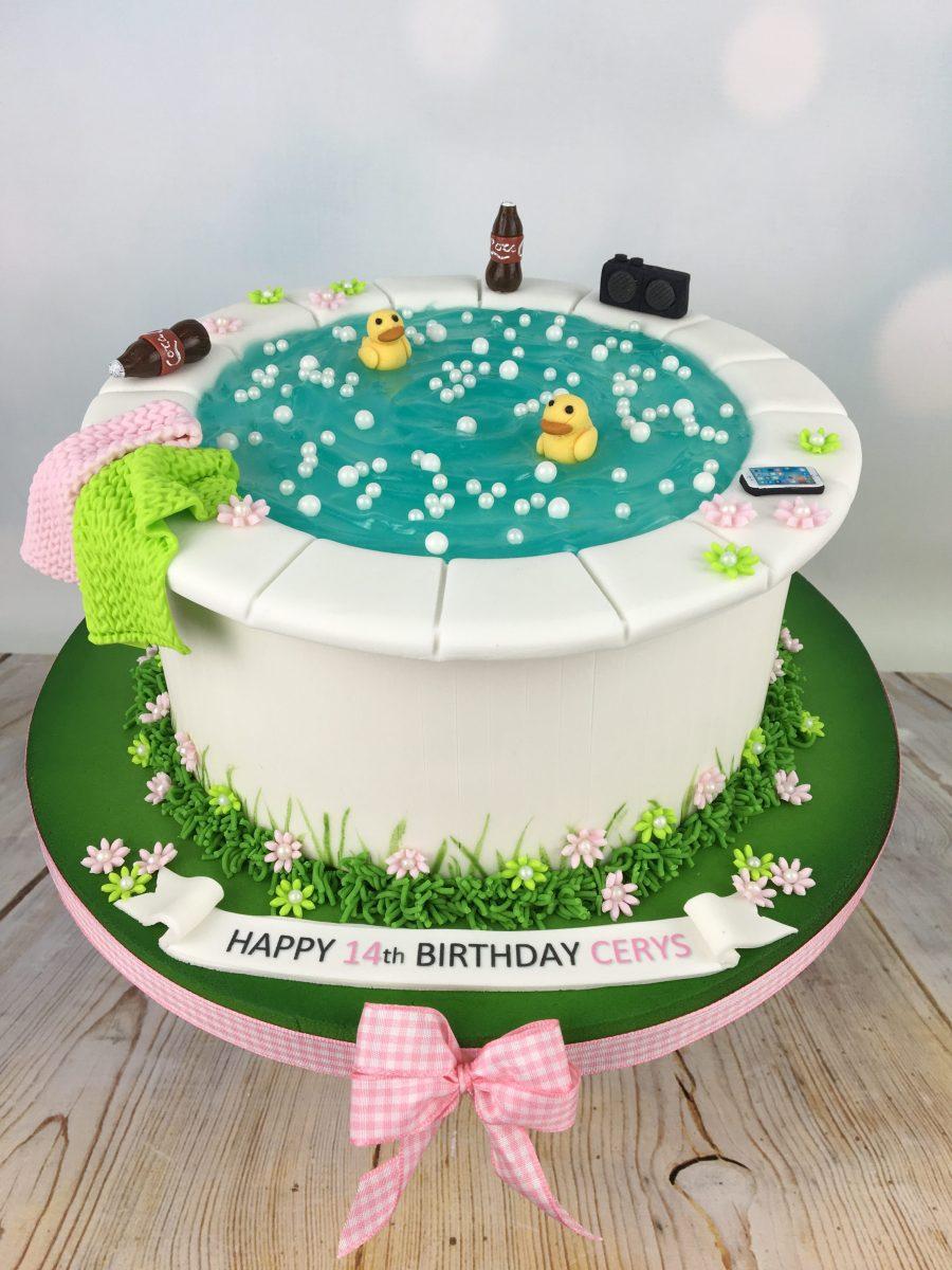 Hot Tub Birthday Cake Mels Amazing Cakes