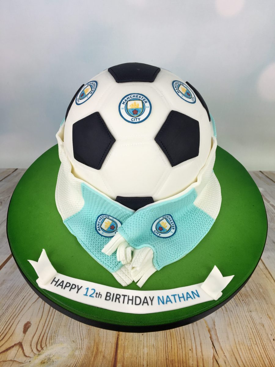 Manchester City Football Birthday Cake Mels Amazing Cakes