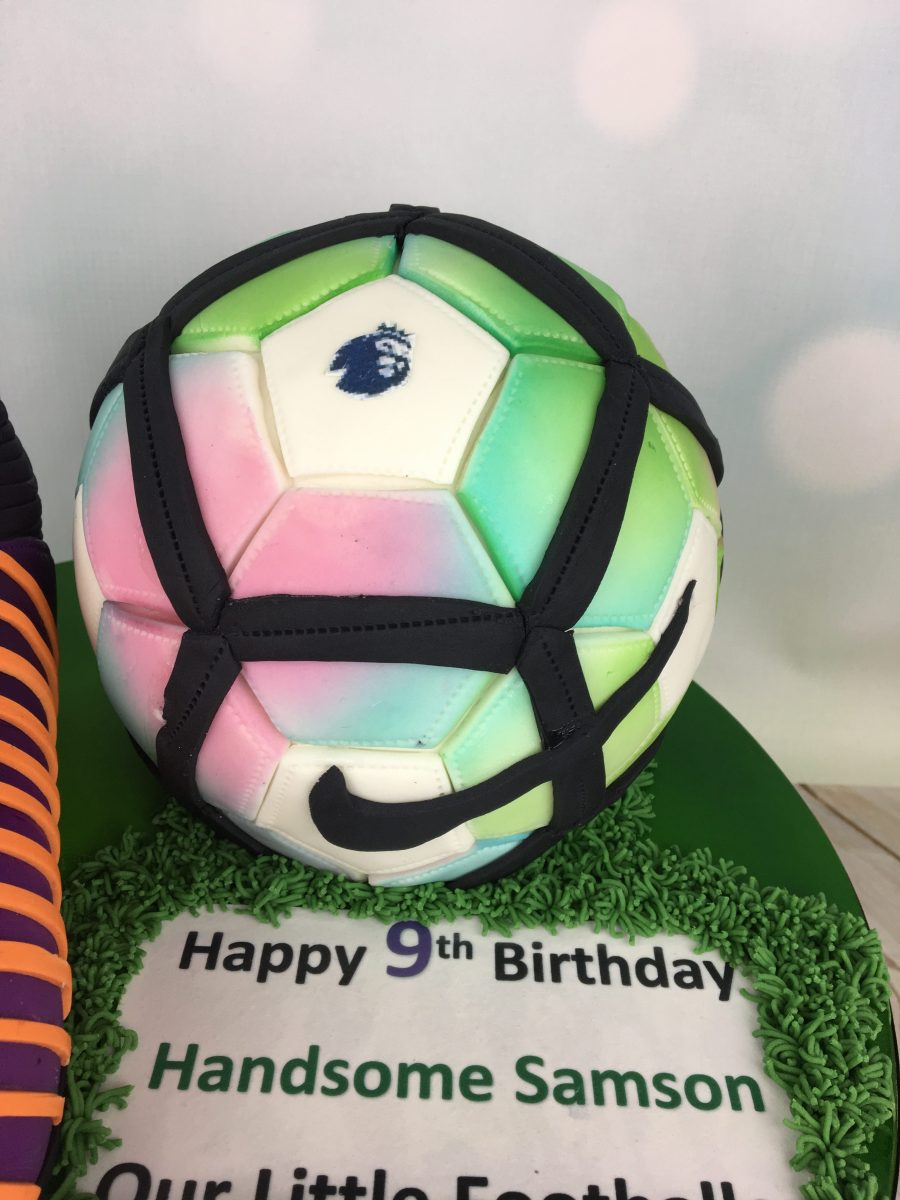 Football And Boot Birthday Cake Mels Amazing Cakes