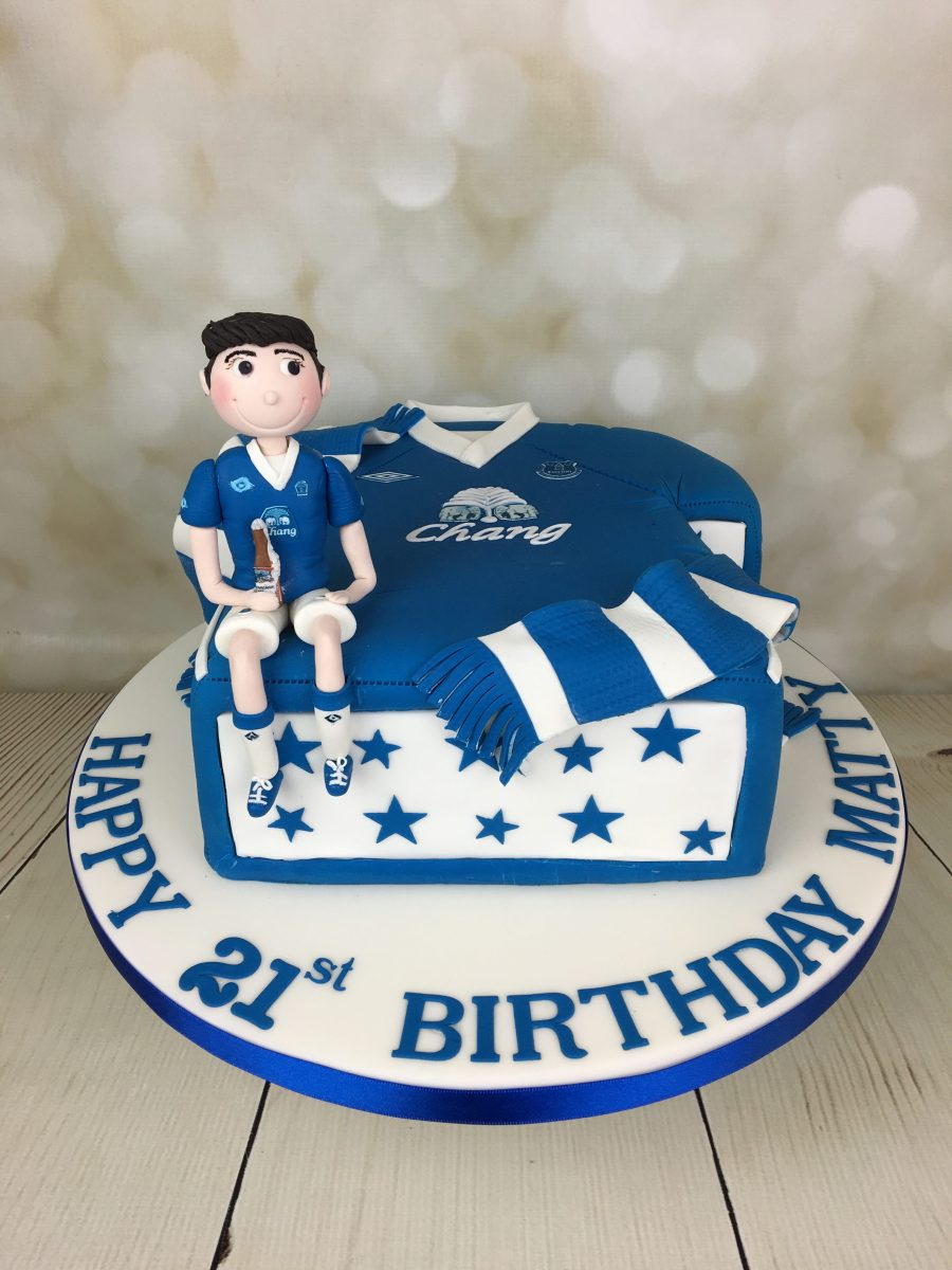 Everton Football Shirt Cake Mels Amazing Cakes